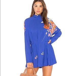 Free People blue Gemma tunic dress